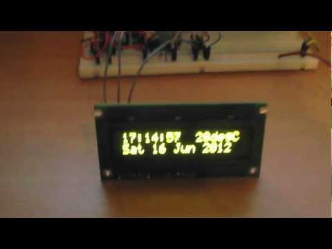 Digital Clock with date time and temperature circuit