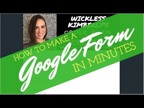 How To Make A Google Form