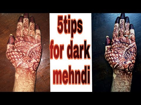 5 Tips to get Darker  Mehndi Color on hands at home/ Indian secret for dark mehndi stain
