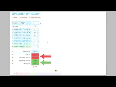 DSM Sunscreen Optimizer™ 1st Tutorial: BASICS