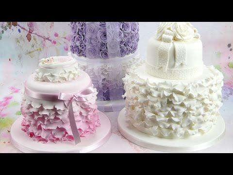How To Make Beautiful Ruffles & Frills On A Cake
