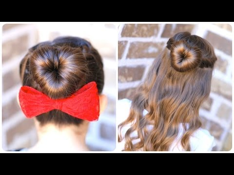 How to Create a Perfect Love Bun | Valentine's Day Heart Hairstyles