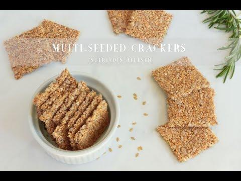 Raw (or Baked) Multi-Seeded Crackers | Vegan, Paleo