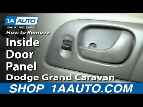 How To Remove Install Inside Door Panel 2002-07 Dodge Grand Caravan