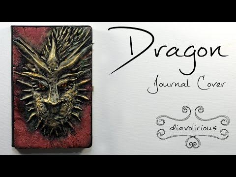 Dragon journal cover - polymer clay TUTORIAL