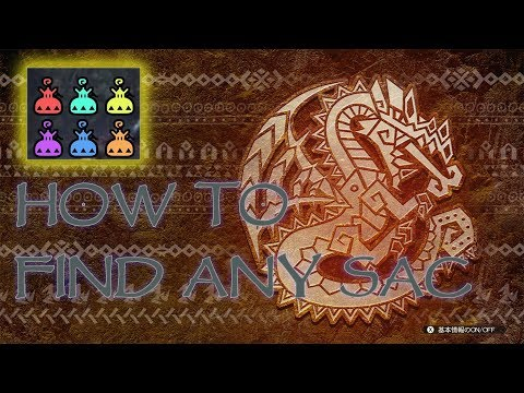 Monster hunter World how to get Aqua sac,Flame,Electro,Poison,Sleep,Frost how to get all Sacs