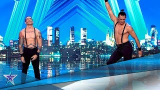 This Sympathic Duo Innovates with some ACROBATIC HUMOR!   Auditions 8   Spain's Got Talent Season 5