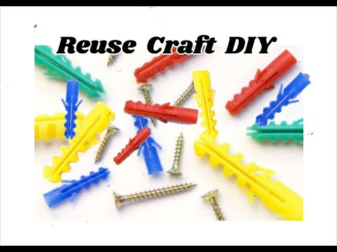 Reuse craft DIY Idea | Earrings making with screw Fishers