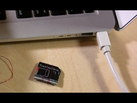 TheMiniDrive Flush SD Card Drives for the Macbook Pro Retina and Macbook Air Review