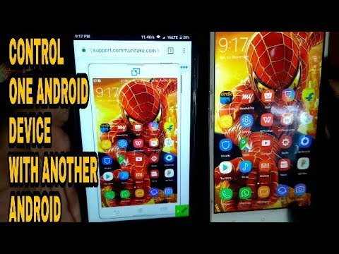 How to control one android phone with another