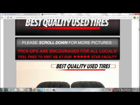 Buying Used Tires Online - Buying Used Tires Online Safely