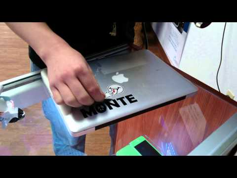 How to remove sticker off macbook pro