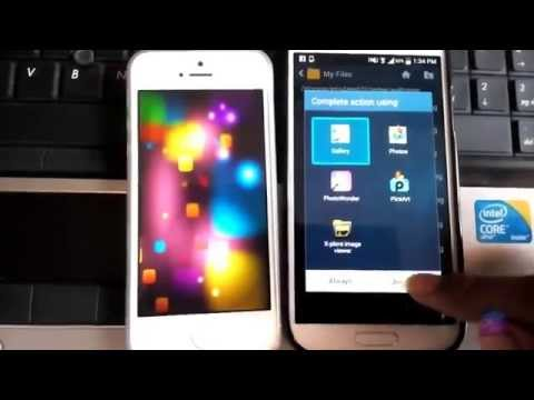 How To Transfer Data Between Apple iPhone 6 / 5 and Samsung Galaxy S5 / S4  [Quick Tutorial] 2015!