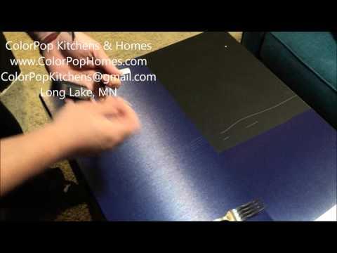 Black Stainless steel durability test