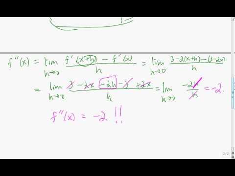 Second order derivatives