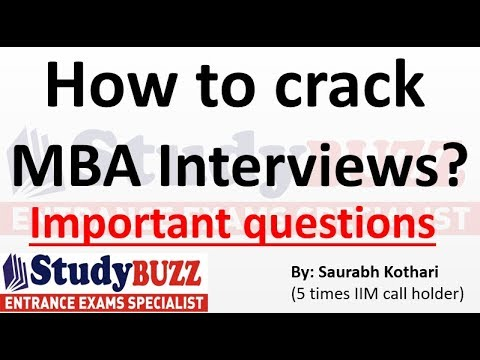 How to crack MBA interviews? Important questions & tips!