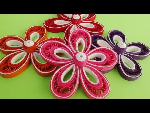 Paper Quilling  |How to make a quilled Malaysian 3D quilling flowers