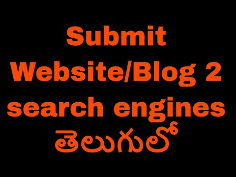 Submit website or blog to search engines in telugu by Kotha Abhishek