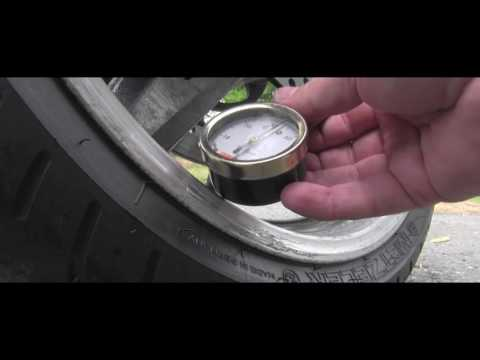 How to check motorcycle tire pressure