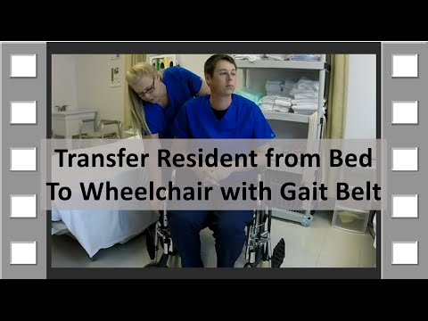 Transfer from Bed to Wheelchair CNA Skill NEW