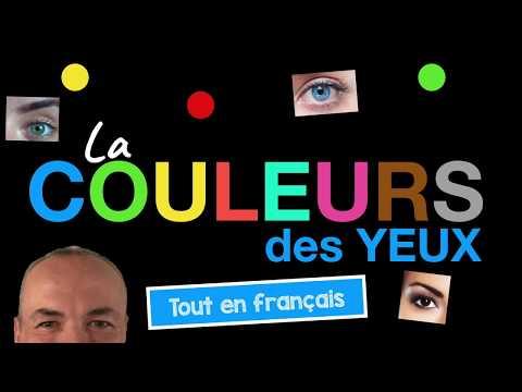 La couleur des yeux en français avec Pascal