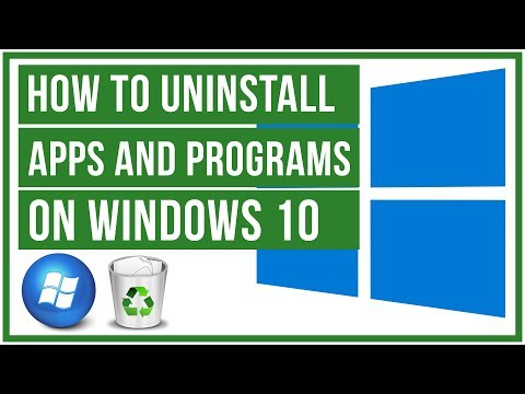 How to uninstall programs and apps on Windows 10