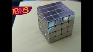 Playing with 64 super strong neodymium cubes (N50)