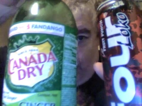 Four loko fruit punch & Canada dry ginger ale (mixed drink review)