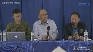 Abella, Calida, military hold press conference on Marawi clash