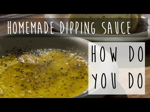 Olive Oil Dipping Sauce for Bread || Italian Dipping Sauce