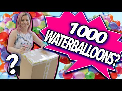 MYSTERY BOX FROM ZURU! 1000 WATER BALLOONS?