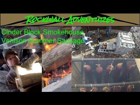 Rockwall Adventures Cinder Block Smoker - Venison Summer Sausage