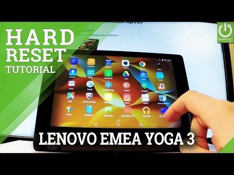 How to Factory Reset LENOVO Yoga 3 - Restore Andorid / Format