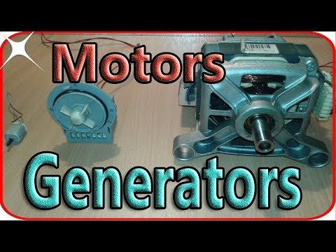 Washing machine motor generator wiring