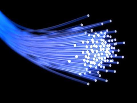 Speed of light through different materials