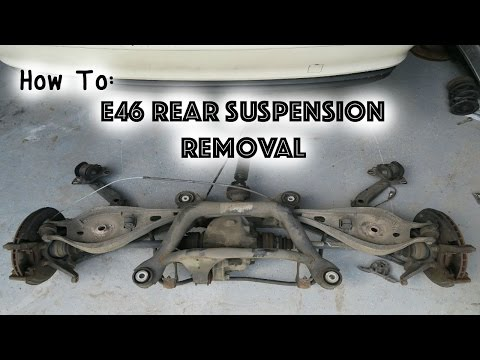 How To: Remove E46 Rear Suspension