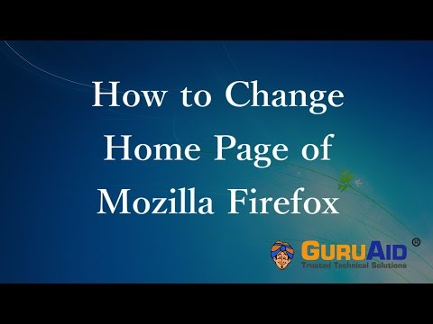 How to Change Home Page of Mozilla Firefox - GuruAid