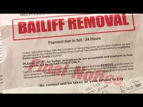 Dealing with the Bailiffs ( getting out of debt for free )