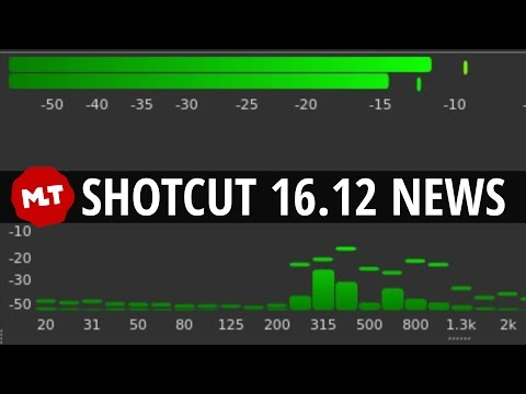 Shotcut 16.12 | AUDIO MIXING | CONSTRAINED VBR | FIXED GOP | LUT FIX | Release News