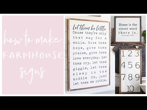 DIY Home Decor- Farmhouse Inspired Painted Wood Halloween Sign