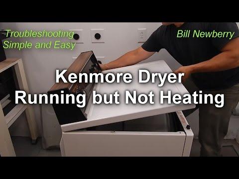 Kenmore Dryer Not Heating but still Runs - How to Fix