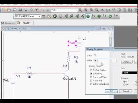 Transistor Circuit Biaspoint Calculation using Orcad Pspice