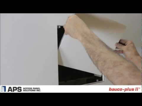 Invisible Hardware Access Panel with Architectural Finish | bauco plus II