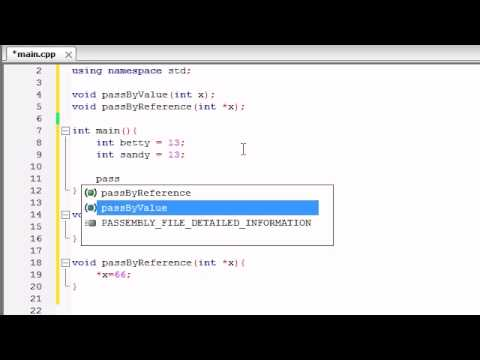 Buckys C++ Programming Tutorials - 39 - Pass by Reference with Pointers