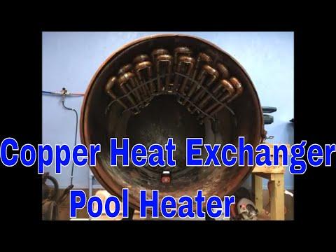 Copper Heat Exchanger In Barrel Wood Stove To Heat Pool