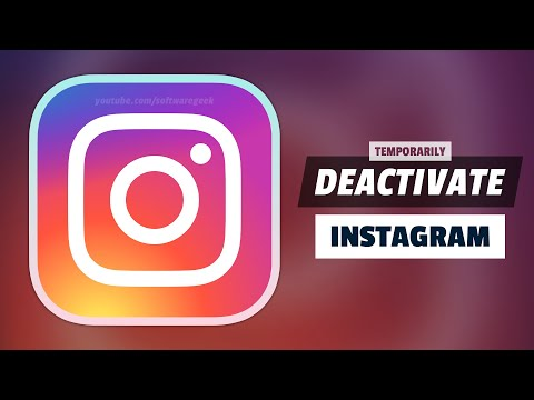 How to temporarily disable instagram account