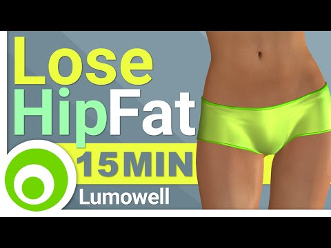 Lose Hip Fat Cardio Workout - 15 Minutes