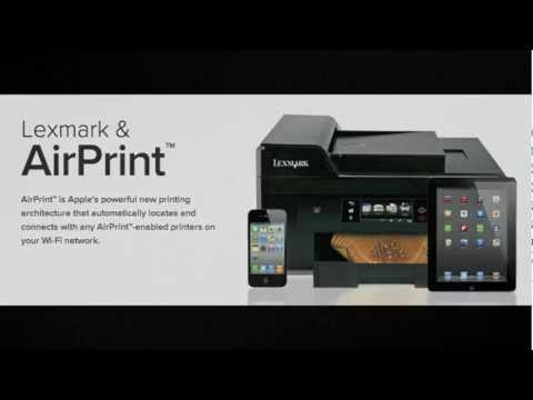 Using your Lexmark Printer to print with AirPrint