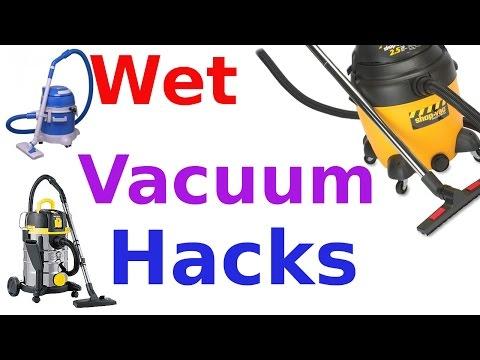 Wet vacuum hoover hacks