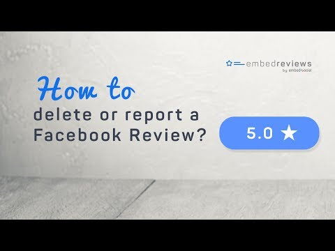How to delete or report a Facebook Review?
